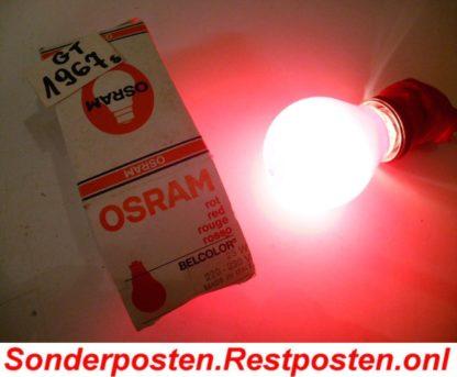 25 Watt Glühbirne Rot Hersteller OSRAM mind. 20 Jahre alt EchteQualität | GS1967