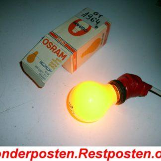 40 Watt Glühbirne Gelb Hersteller OSRAM mind. 20 Jahre alt Echte Qualität | GS1964