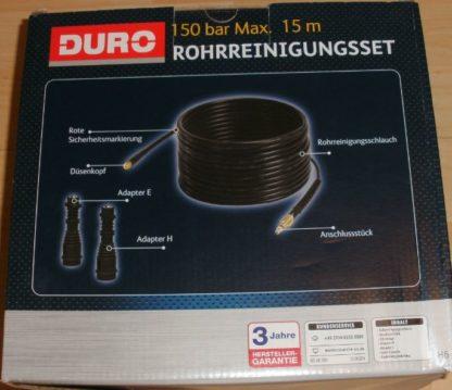 Rohrreinigungsschlauch 15M f. nahezu a. Hochdruckreiniger w. Kärcher Duro Aldi Craft King GM239