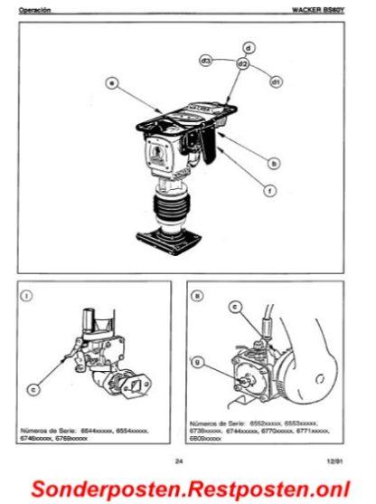 Wacker Stampfer BS60Y Handbuch Betriebsanleitung | GS2343