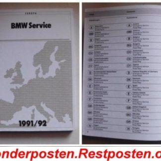 BMW E36 318i Serviceheft Bereitschaftsdienst Heft