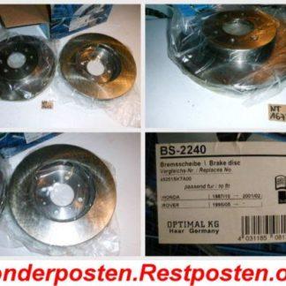 Bremsscheiben Optimal BS2240 HONDA NT1673