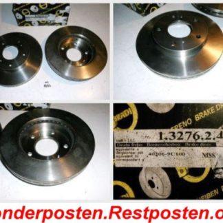 Bremsscheiben METZGER 1.3276.2.4 1327624 NISSAN NT1783