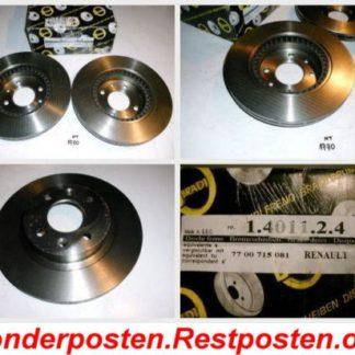 Bremsscheiben METZGER 1.4011.2.4 1401124 Renault NT1770
