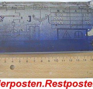 Ford Cargo 0813 Ersatzteile Typenschild Schild