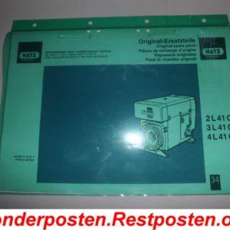 Hatz Diesel Motor 2L41C 2L 41C Ersatzteileliste