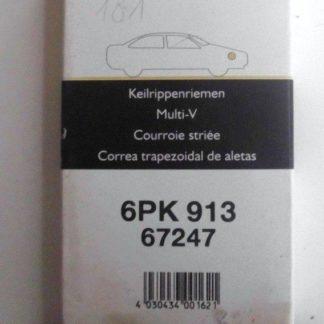 Keilrippenriemen Gates Flennor 67247 6PK913 | NT300