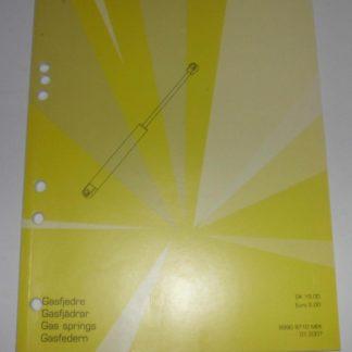 Tridon Triscan Katalog Gasdruckfeder Gasfederkatalog Ersatzteilkatalog 2007 GS1371