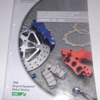 TRW Motorrad Ersatzteilkatalog Bremsen Kupplungsteile GS1363