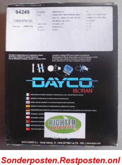 Zahnriemen Dayco 94249 Citroen Peugeot | NT125