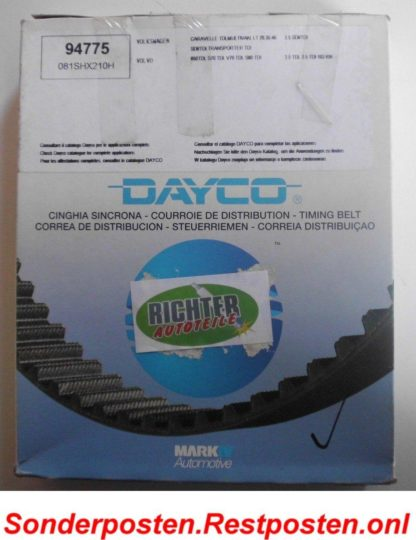 Zahnriemen Dayco 94775 VW Volvo | NT194